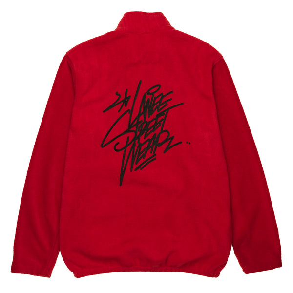 Lanee Clothing Streetwear RED HALF-ZIP FLEECE 21