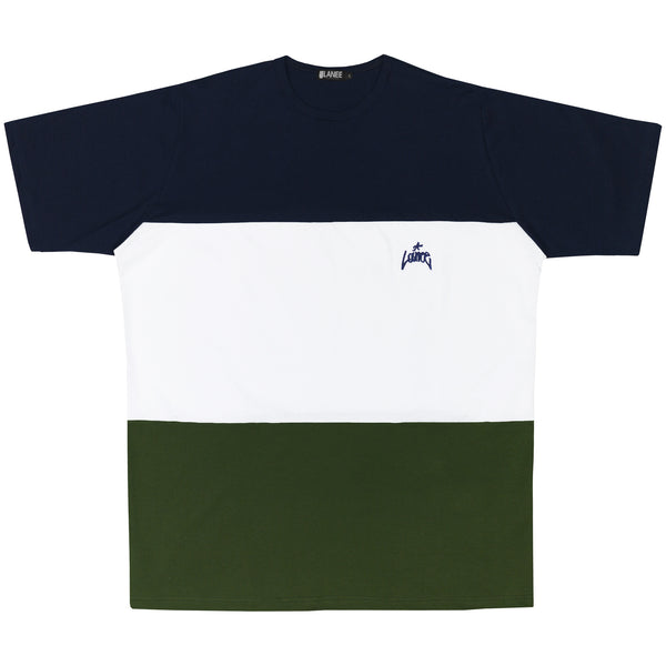 Lanee Clothing Streetwear BLUE/WHITE/GREEN TEE