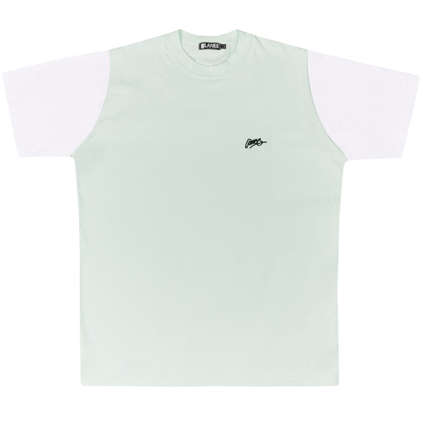 Lanee Clothing Streetwear MINT/WHITE TEE