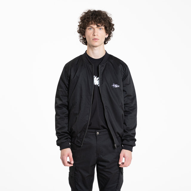 Lanee Clothing Streetwear BLACK BOMBER JACKET 21
