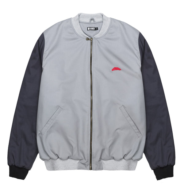 Lanee Clothing Streetwear GRAY BOMBER JACKET 21
