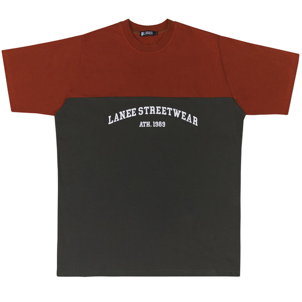 Lanee Clothing Streetwear ORANGE/MAROON-GRAY LANEE STREETWEAR