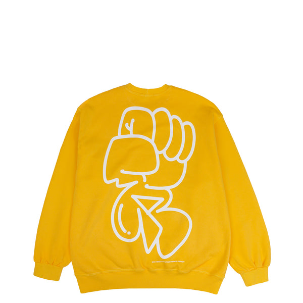 Lanee Clothing Streetwear GUU YELLOW CREWNECK