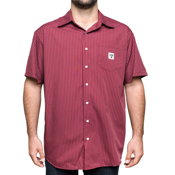 Lanee Clothing Streetwear MAROON STRIPED SHIRT
