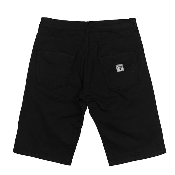 Lanee Clothing Streetwear 5-POCKET BLACK SHORTS 19