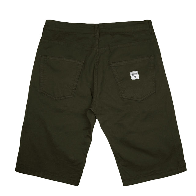 Lanee Clothing Streetwear 5-POCKET OLIVE SHORTS 19