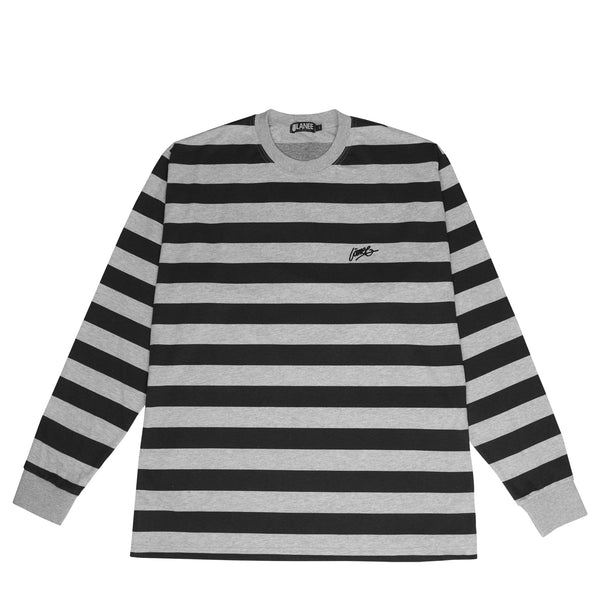 Lanee Clothing Streetwear GRAY STRIPED LONGSLEEVE 21