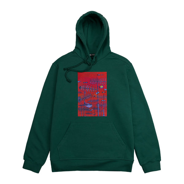 Lanee Clothing Streetwear LANEE X JAMER GREEN HOODIE 21 LOOSE FIT