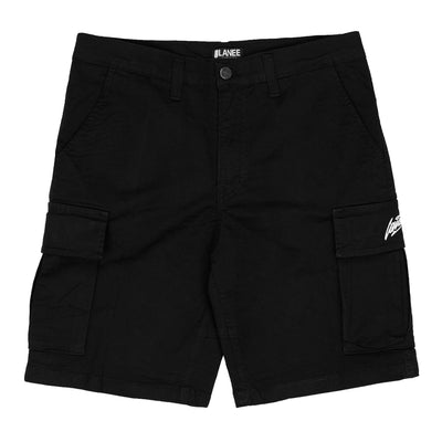 Lanee Clothing Streetwear BLACK CARGO SHORTS 21