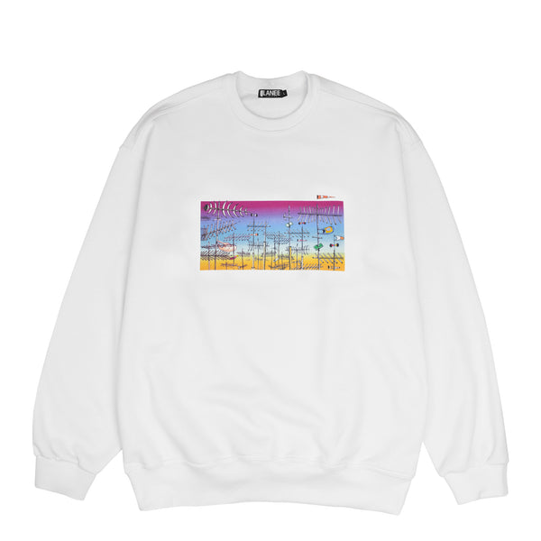 Lanee Clothing Streetwear LANEE X JAMER WHITE CREWNECK LOOSE FIT