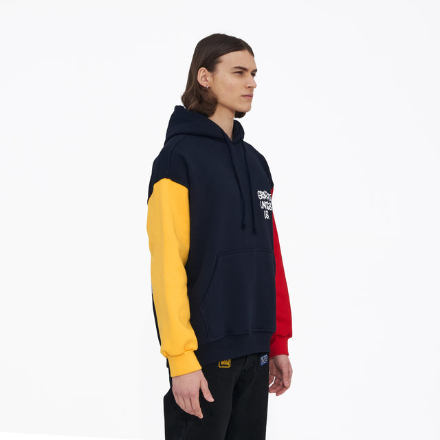 Lanee Clothing Streetwear GUU N.BLUE/YELLOW/RED HOODIE