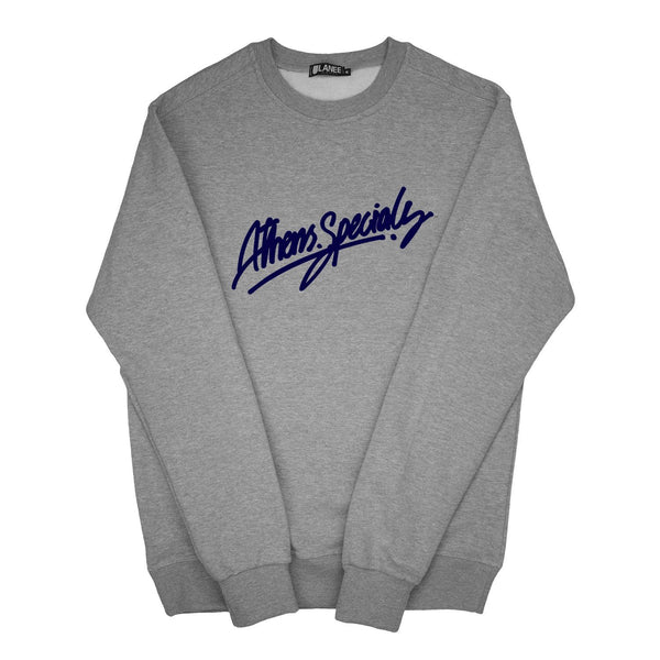 SWEAT - ATH.SPECIALS GREY/NAVY BLUE CREWNECK 19