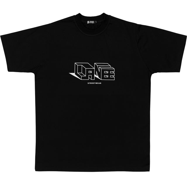 Lanee Clothing Streetwear BLACK 3D TEE
