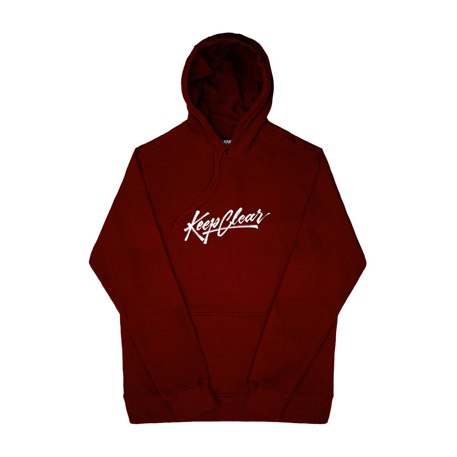 SWEAT - KEEP CLEAR MAROON HOODIE 19