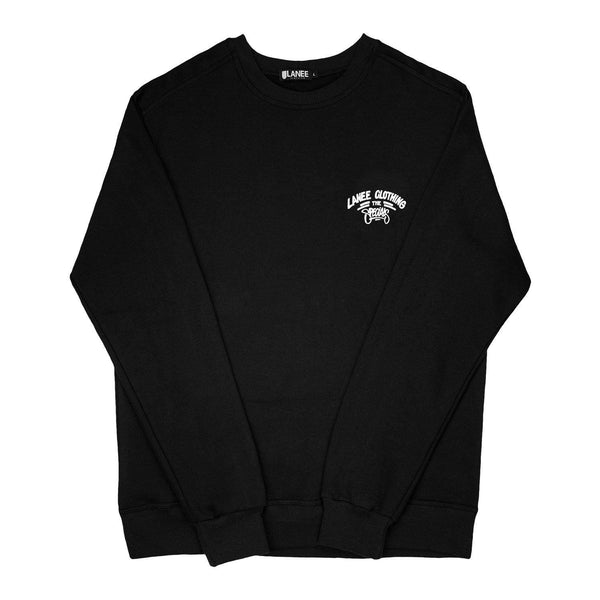 Lanee Clothing Streetwear LIGHTWEIGHT L.C.S. BLACK CREWNECK 19