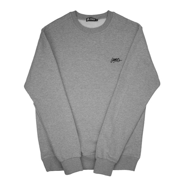 SWEAT - GREY BLANK CREWNECK 19