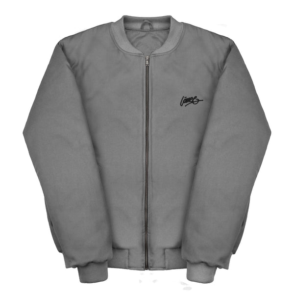 Lanee Clothing Streetwear GRAY BOMBER JACKET