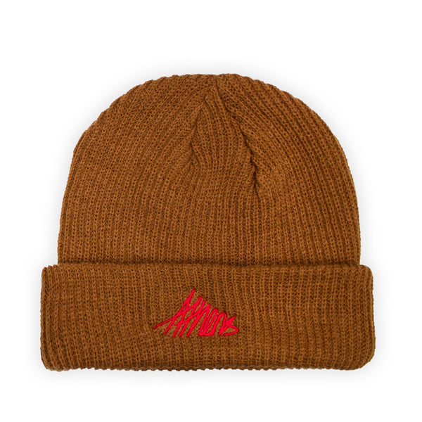 Lanee Clothing Streetwear ATHENS BROWN BEANIE
