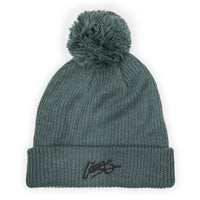 Headwear - LÀNEE SEA GREEN POMPOM BEANIE