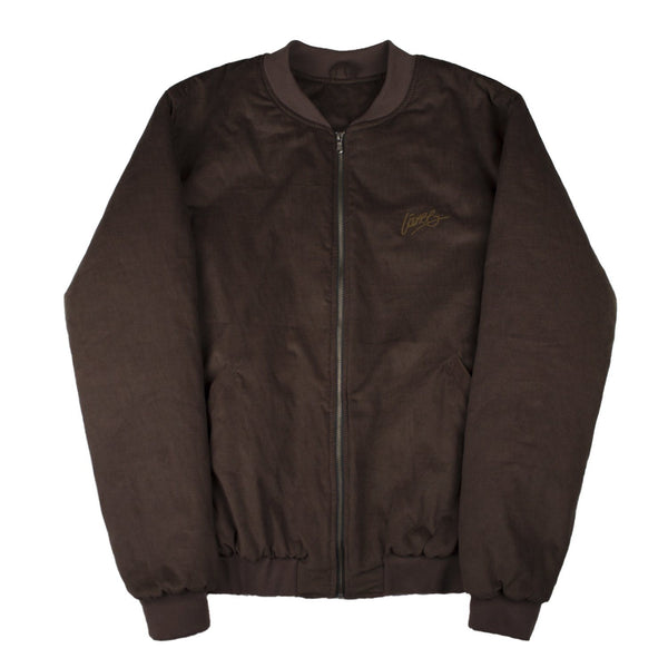 Lanee Clothing Streetwear BROWN CORDUROY BOMBER JACKET