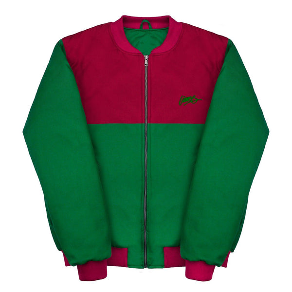 Jackets - RED-GREEN BOMBER JACKET