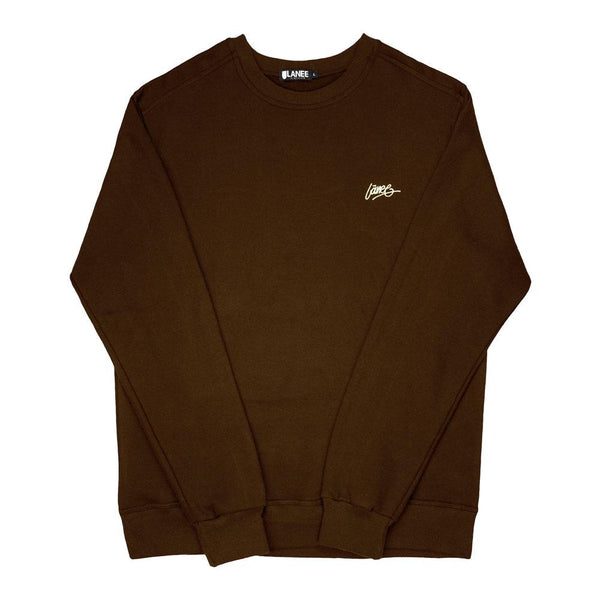 SWEAT - BROWN BLANK CREWNECK 19