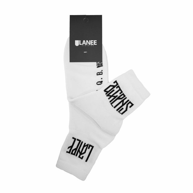 Lanee Clothing Streetwear LANEE X Q.B.MIX WHITE SOCKS