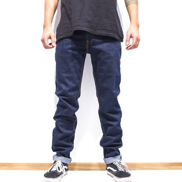Lanee Clothing Streetwear 5-POCKET DARK BLUE DENIM PANTS