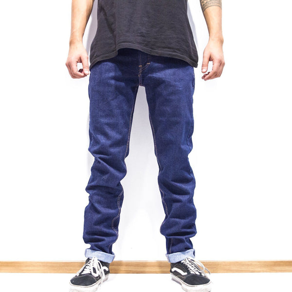 Lanee Clothing Streetwear 5-POCKET BLUE DENIM PANTS