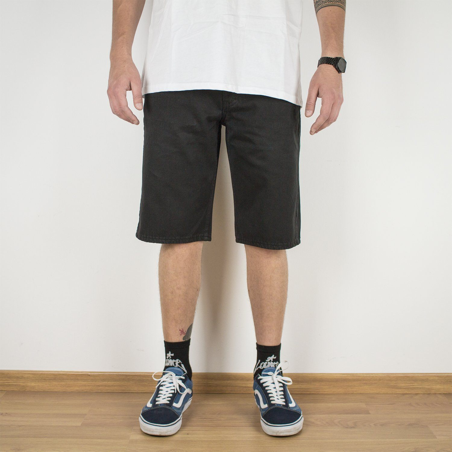 Shorts - 5-POCKET BLACK SHORTS