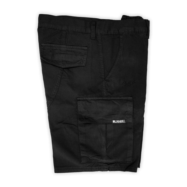 Shorts - BRXLANEE - BLACK CARGO SHORTS