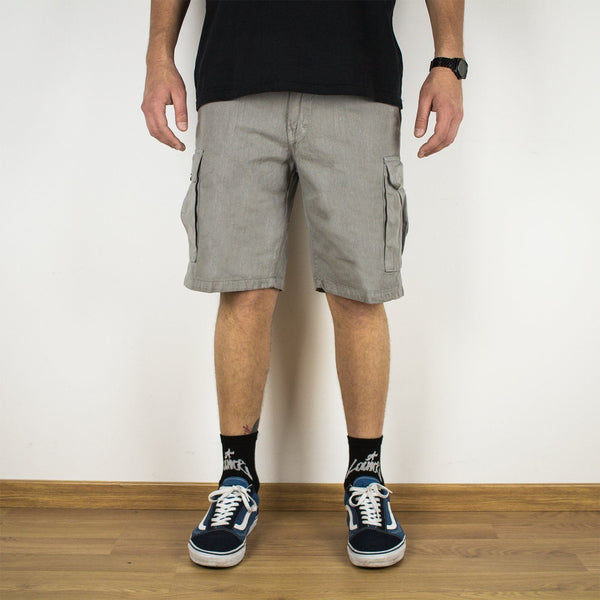 Lanee Clothing Streetwear GREY CARGO SHORTS