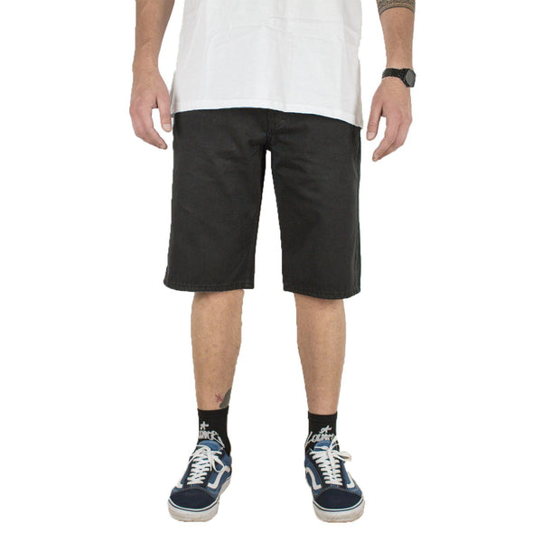 5-POCKET BLACK SHORTS