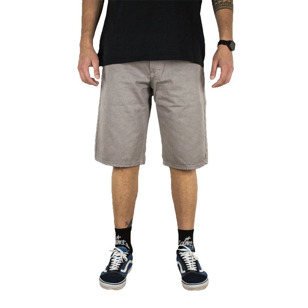 Lanee Clothing Streetwear 5-POCKET GREY SHORTS
