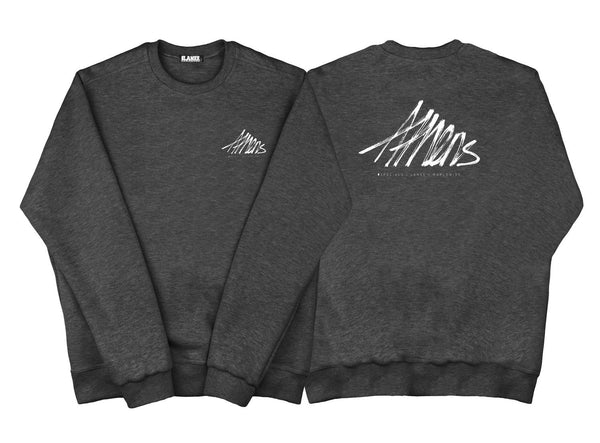 SWEAT - ATHENS CHARCOAL CREWNECK
