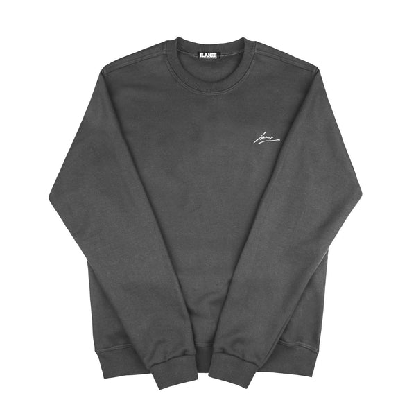 SWEAT - BLANK DARK GREY CREWNECK
