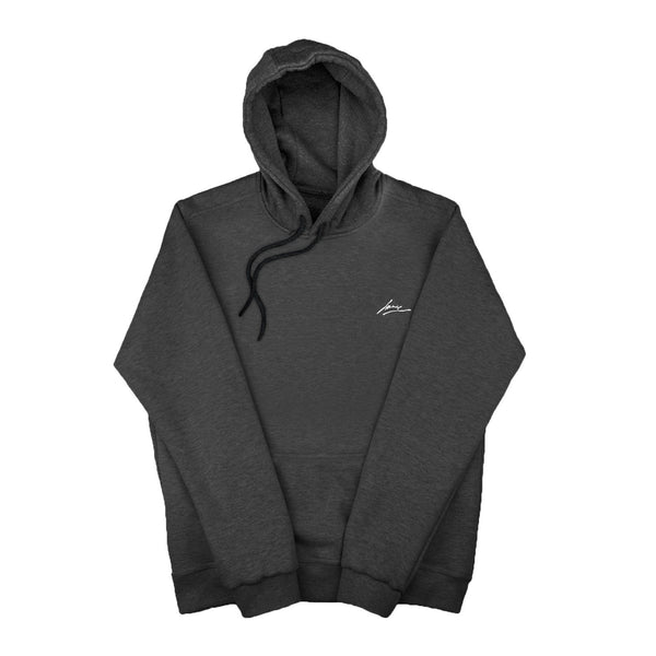 SWEAT - BLANK DARK GREY HOODIE