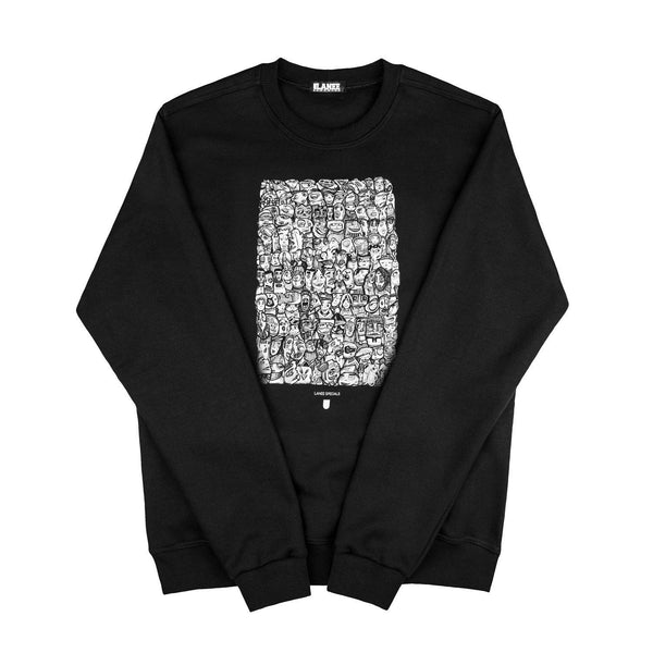 SWEAT - ETHRA BLACK CREWNECK