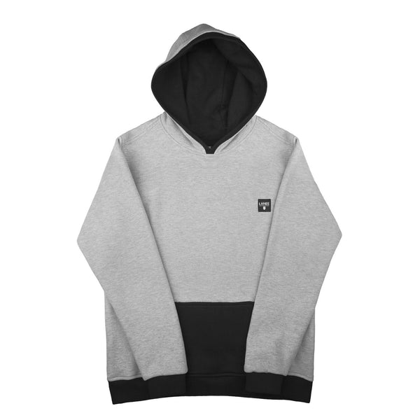 SWEAT - GREY-BLACK BLANK HOODIE