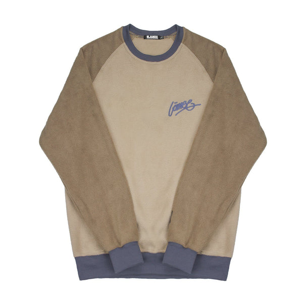 SWEAT - LÀNEE BEIGE-BROWN FLEECE