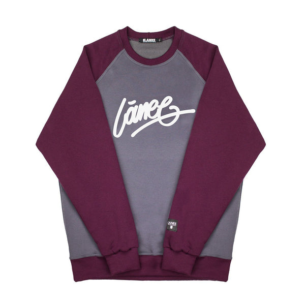 SWEAT - LÀNEE CRIMSON-GREY CREWNECK