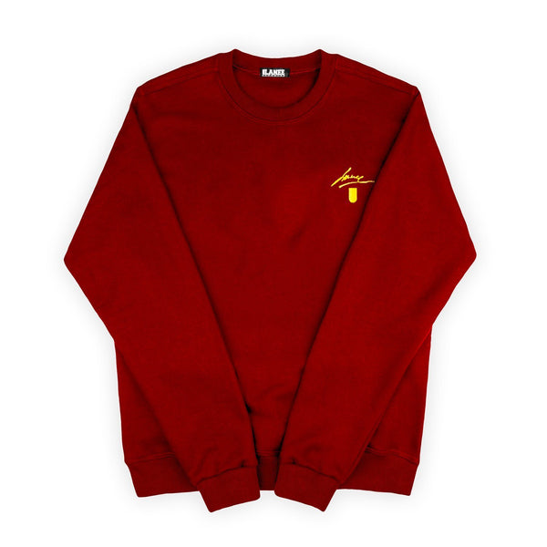 SWEAT - MAROON BLANK CREWNECK