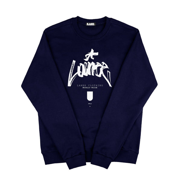 SWEAT - WORLDWIDE NAVY BLUE CREWNECK