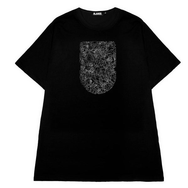 T-SHIRT - FACES BLACK TEE