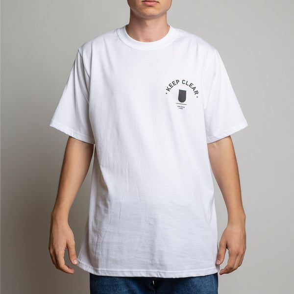 T-SHIRT - KEEP CLEAR WHITE TEE