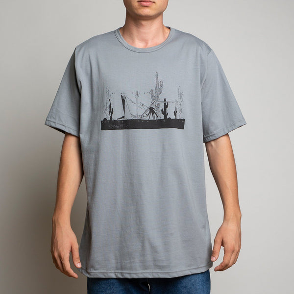 T-SHIRT - SCENE CUSTOMGREY TEE