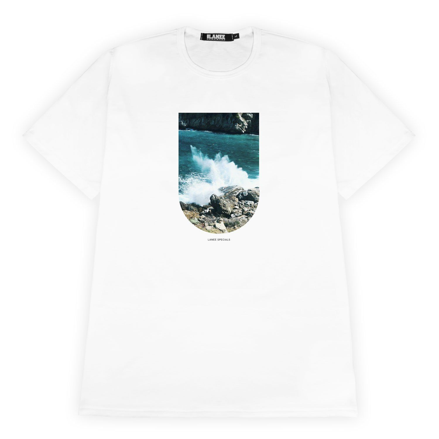 T-SHIRT - WAVE WHITE TEE