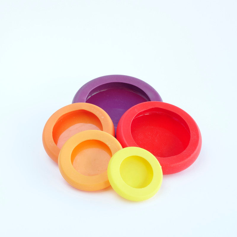 Reusable silicone food savers - Set of 5
