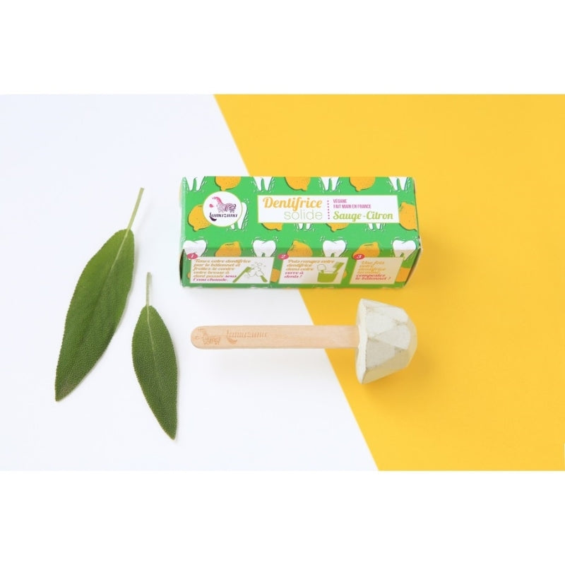 Solid toothpaste - Sage & lemon