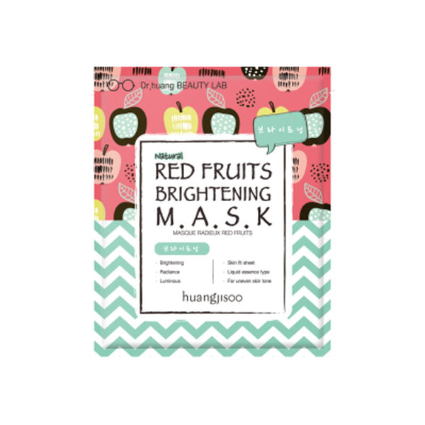 Red fruit brightening sheet mask